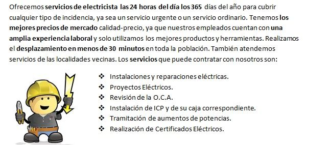 Electricista 24 horas El Rosario realizacion de puntos de luz